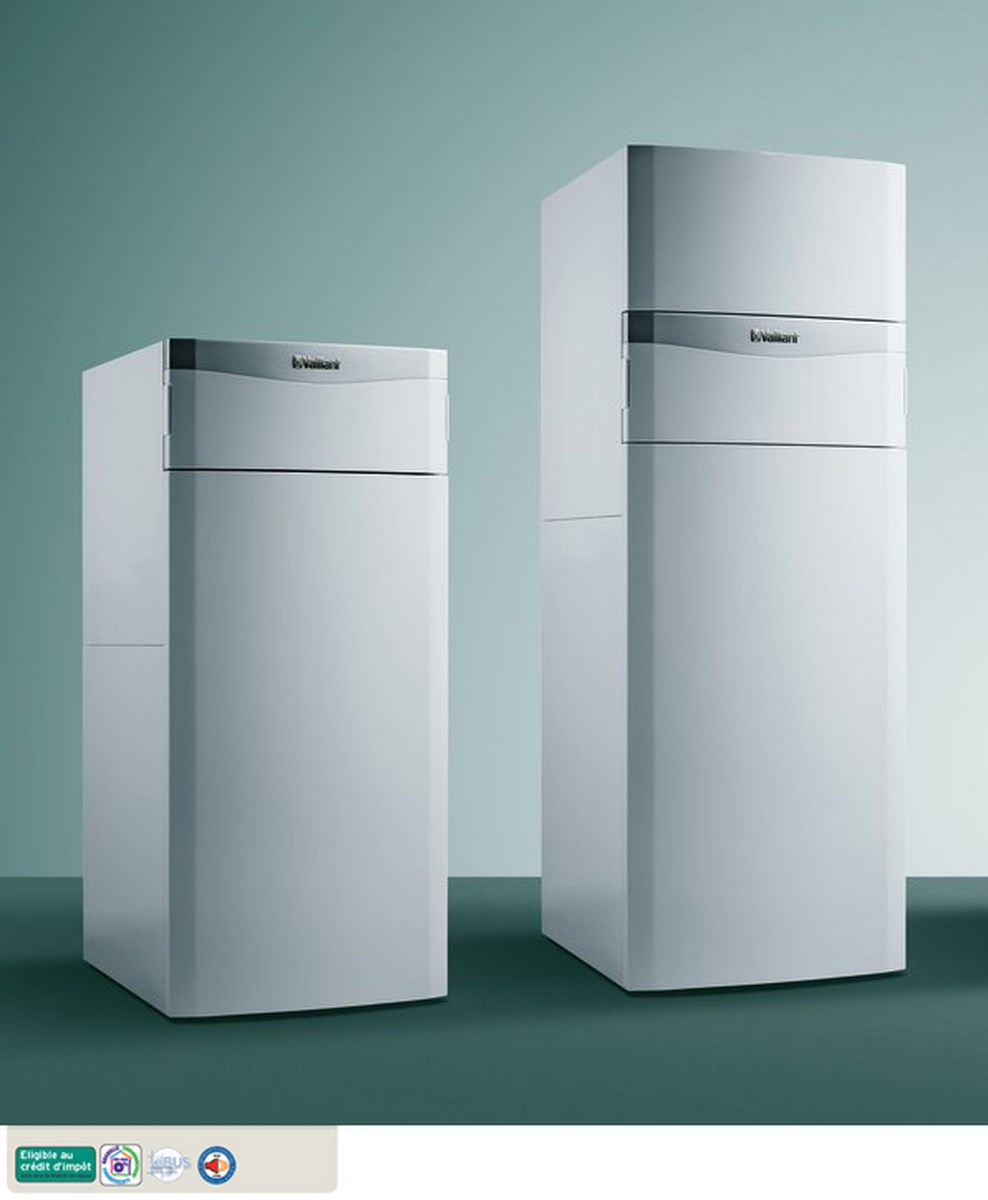 vaillant chaudi re gaz au sol condensation 30kw avec ballon 150l compl te. Black Bedroom Furniture Sets. Home Design Ideas