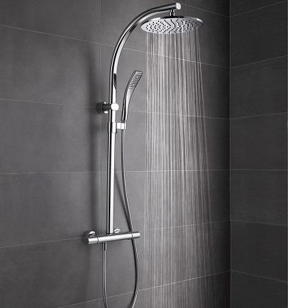 colonne de douche oblo avec mitigeur thermostatique jacob delafon. Black Bedroom Furniture Sets. Home Design Ideas